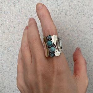 ROBERT LEE MORRIS Sterling Silver Ring 9 RLM 925